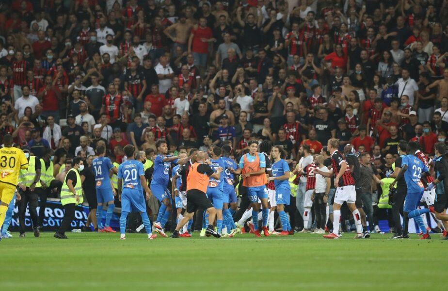 """Scandalul Nice – Marseille """"se mută"""" în justiţie: """"Inacceptabil! Trebuie să creăm un precedent pentru fotbalul francez!"""" Anunţul făcut după incidentele violente de la Nisa"""