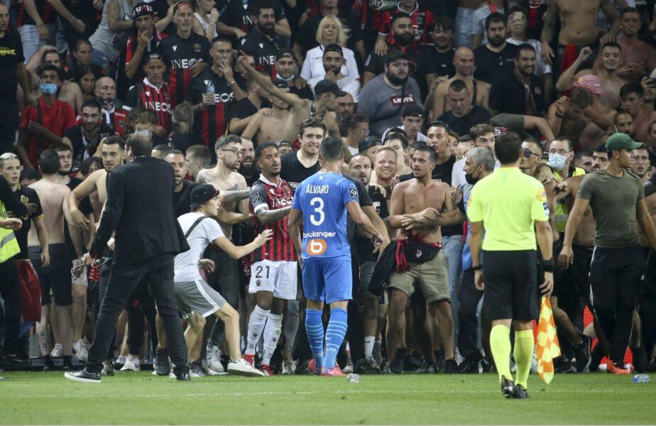 """Scene uluitoare la Nice – Marseille. """"Jucătorii noştri au fost loviţi de bodyguarzii lui Marseille"""""""