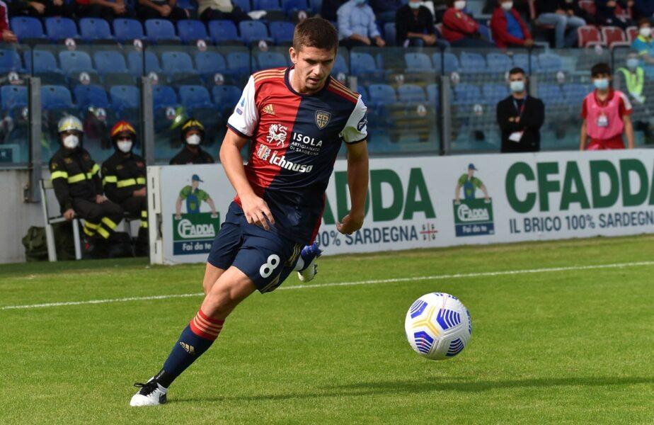 """Răzvan Marin, vedetă înaintea noului sezon din Serie A. """"Un lider pentru roş-albaştri. Cagliari are acum un nou 'far'!"""""""