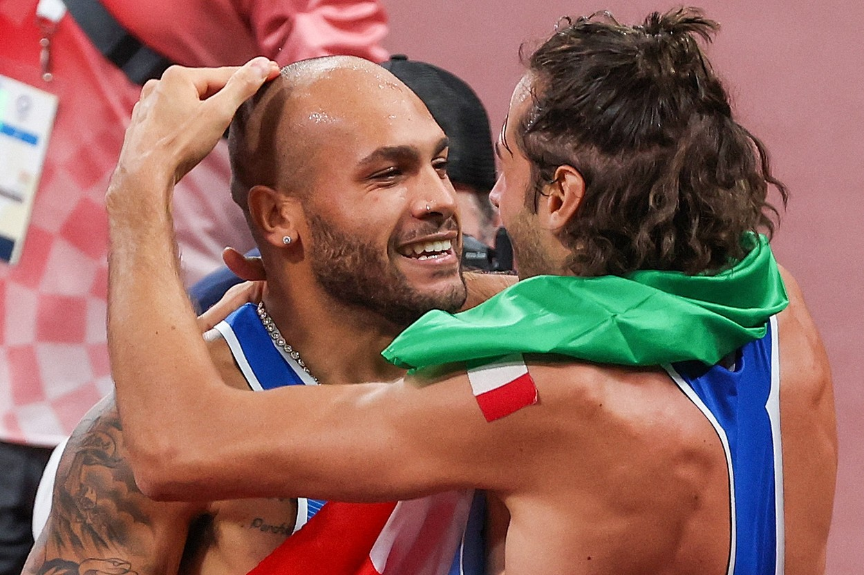 Marcell Jacobs şi Gianmarco Tamberi