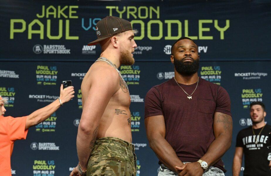 """Jake Paul vs Tyron Woodley. Un nou meci de box """"cu scandal"""" are loc duminică noaptea"""