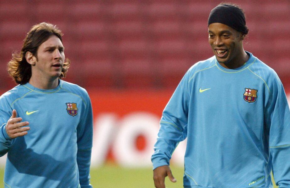 """Ronaldinho, genial după transferul lui Lionel Messi la PSG. """"Îmi miroase a Champions League"""". Ce a spus de prietenul Sergio Ramos"""