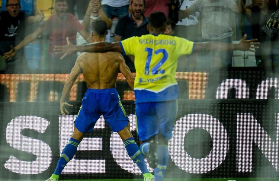 """Massimiliano Allegri, debut ratat în noul mandat la Juventus. A explicat de ce l-a ţinut rezervă pe Cristiano Ronaldo: """"Am vorbit cu el!"""""""