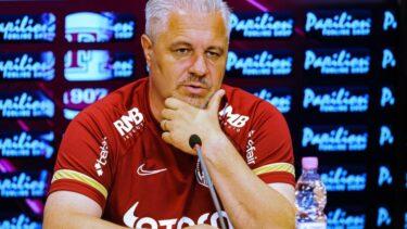 Marius Şumudică, la o conferinţă de presă ca antrenor al lui CFR Cluj