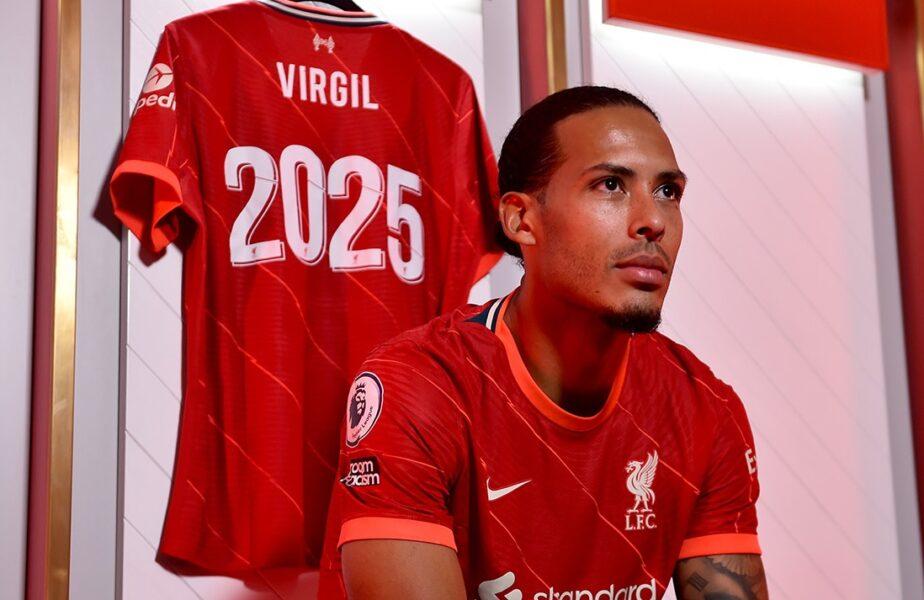 Oficial: Virgil van Dijk şi-a prelungit contractul cu Liverpool! Olandezul revine după accidentarea horror