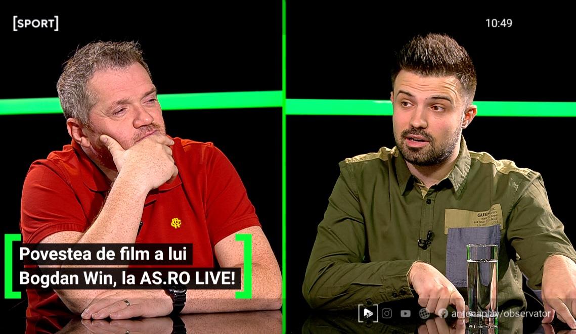 Bogdan WIN a fost invitat la AS.ro LIVE