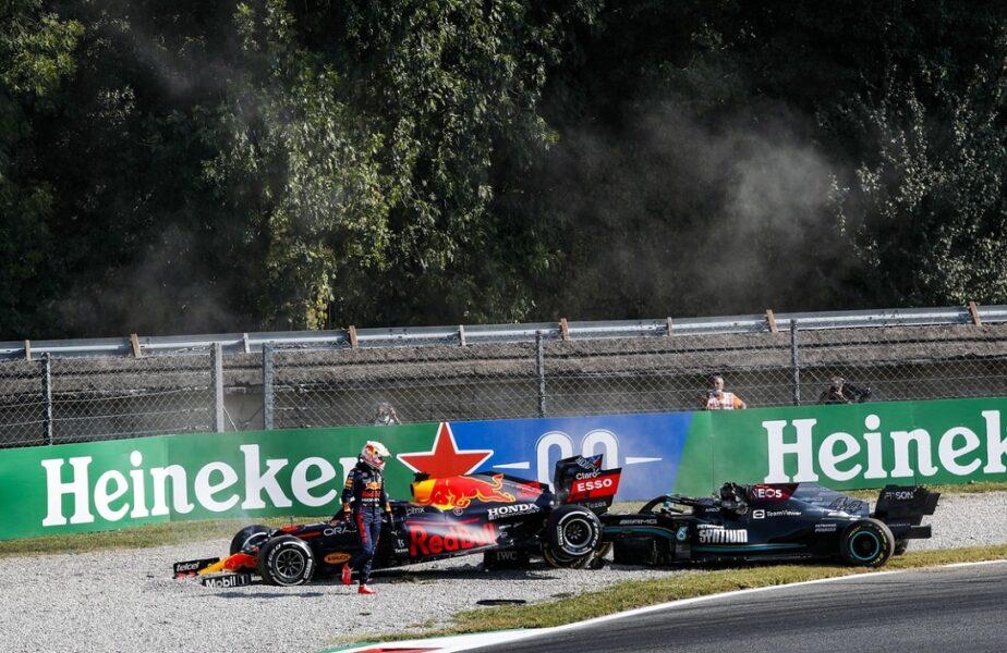 Daniel Ricciardo a câştigat Marele Premiu de Formula 1 al Italiei şi a băut şampanie din ghete. Hamilton şi Verstappen, accident incredibil la Monza!