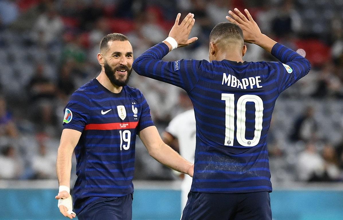 Karim Benzema şi Kylian Mbappe