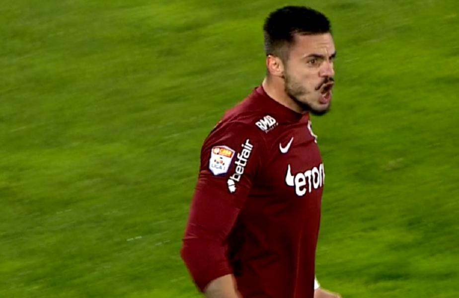 Andrei Burcă, primul gol din noul mandat al lui Dan Petrescu la CFR Cluj