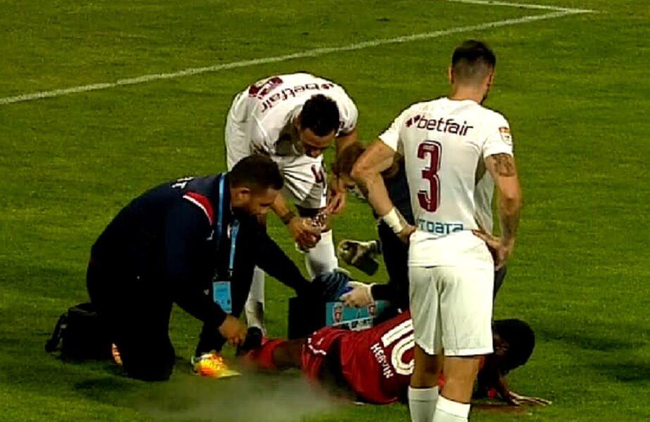 FC Botoşani – CFR Cluj   Emmanuel Culio l-a pus la pământ pe Hervin Ongenda cu o intrare dură! Decizie uluitoare a lui Radu Petrescu după gestul golănesc