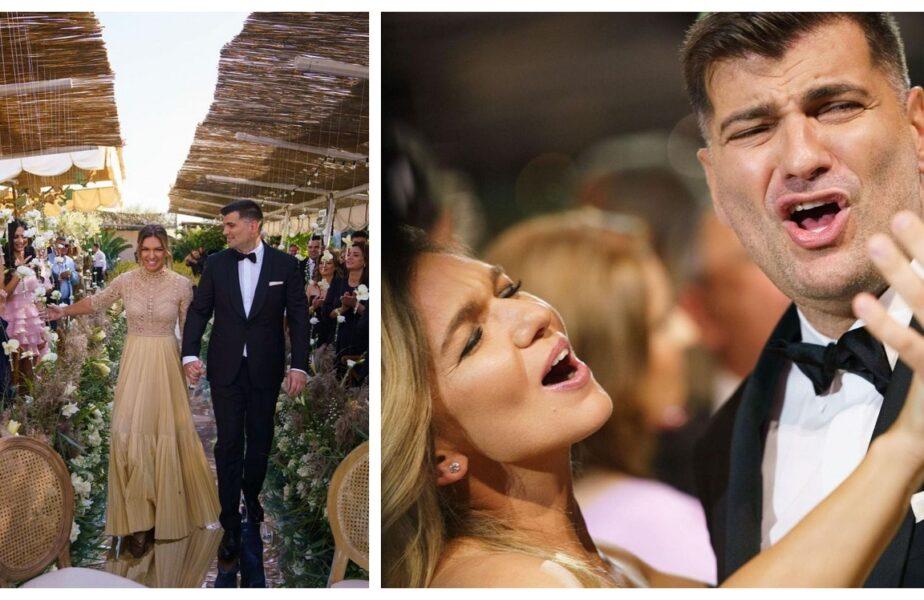 Imagini fabuloase de la nunta anului. Simona Halep şi Toni Iuruc, surprinşi în ipostaze de neuitat! Zeci de mii de fani au reacţionat