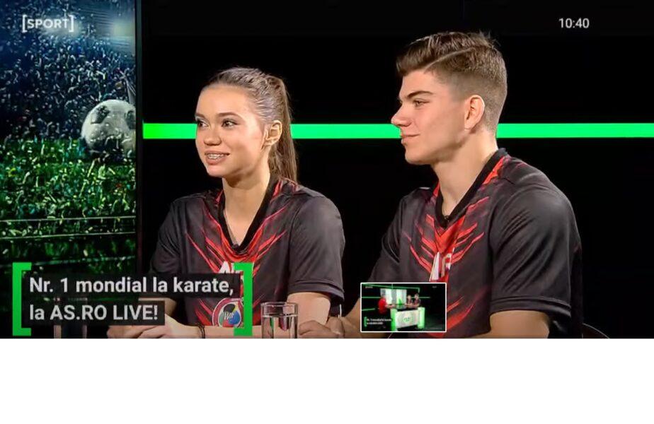 """Campionii de la karate, dezvăluiri la AS.RO LIVE! Cum au ajuns la sport juniorii de aur: """"A devenit o pasiune"""""""
