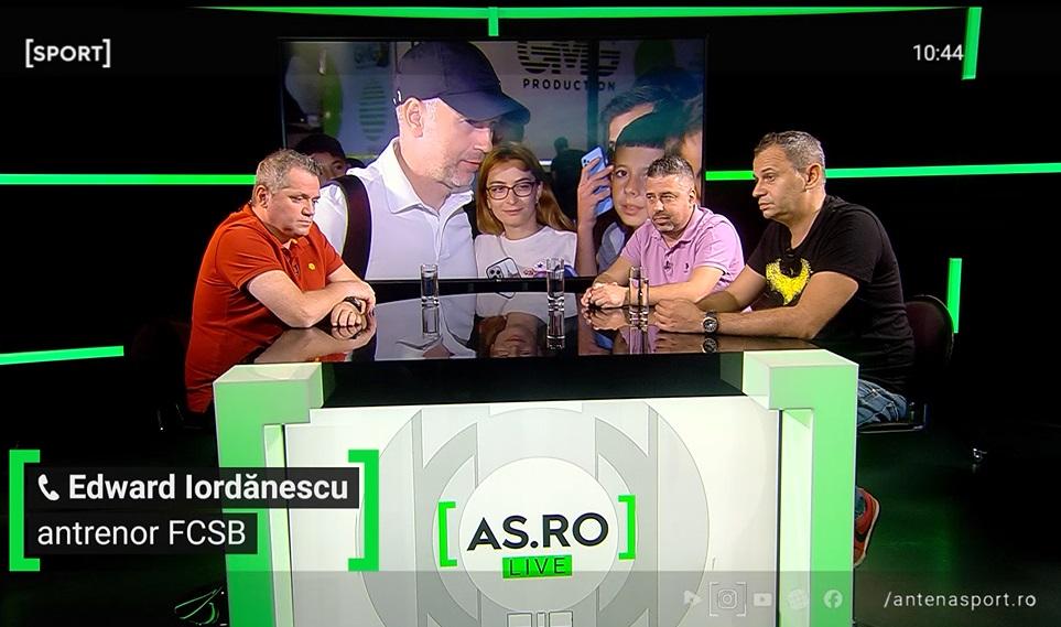 Edi Iordănescu a fos tinvitat la AS.ro LIVE