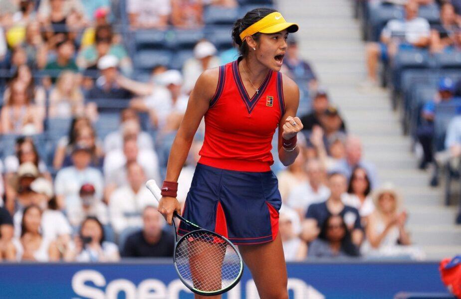 US Open 2021 | Emma Răducanu e URIAŞĂ! A ajuns pentru prima dată în sferturile de finală ale unui turneu de Grand Slam fără să piardă vreun set! Răducanu a spulberat-o pe Shelby Rogers