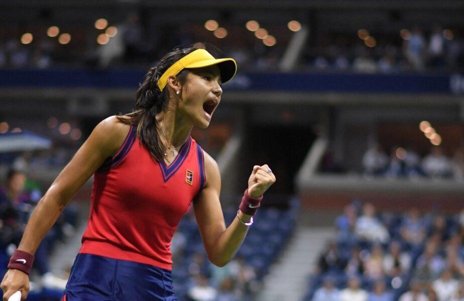 """Emma Răducanu scrie istorie la US Open 2021! A ajuns în finală fără set pierdut! """"Prima sportivă, din toate timpurile, care ajunge în finala unui Grand Slam, venită din calificări!"""""""