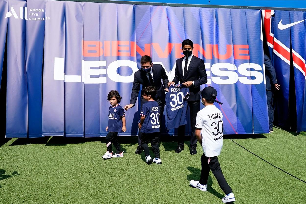 Mateo şi Thiago, pe urmele lui Lionel Messi! Superstarul argentinian şi-a înscris copiii la echipele de juniori ale lui PSG