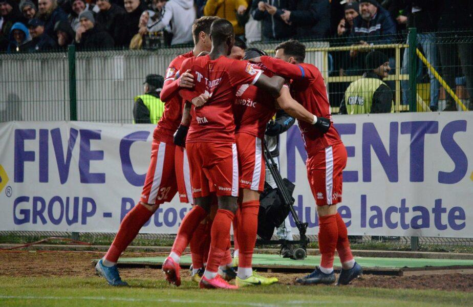 CS Mioveni – FC Botoșani 1-1. Final interzis cardiacilor! Moldovenii s-au salvat în prelungiri, după ce au ratat un penalty