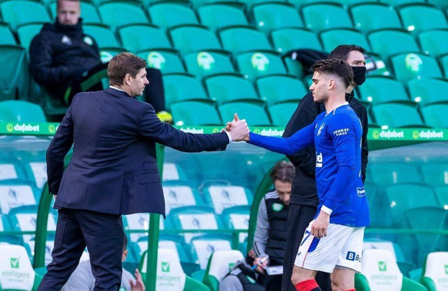 """Steven Gerrard a anunţat cum se simte Ianis Hagi. """"Am vorbit cu el!"""". Ce se întâmplă cu mijlocaşul depistat cu Covid-19"""