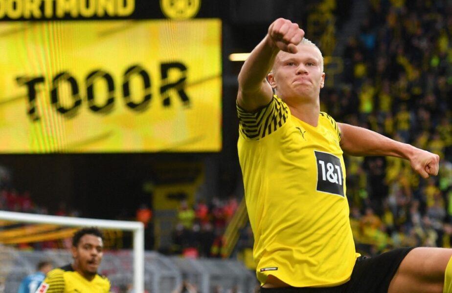 """""""Tunetul Nordului"""" a lovit din nou! Erling Haaland are mai multe goluri decât meciuri jucate. A reuşit o """"dublă"""" de senzaţie în Dortmund – Union Berlin 4-2"""
