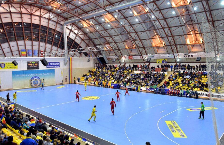 Situaţie incredibilă în sportul din România! ANAF a scos la licitaţie suprafaţa de joc din Sala Polivalentă din Călăraşi