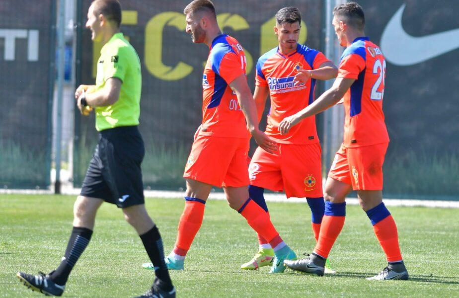 Claudiu Keșeru, gol la primul meci pentru FCSB de la revenire. Valentin Gheorghe a marcat la debut! Edi Iordănescu, prima victorie pe banca roș-albaștrilor