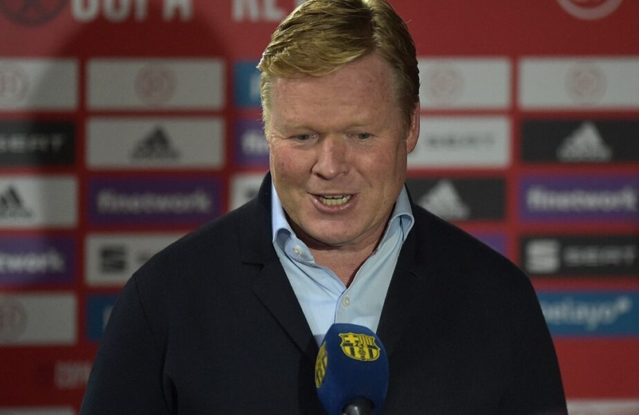 Ronald Koeman, gest șocant la conferința de presă! Ce a putut să facă antrenorul Barcelonei