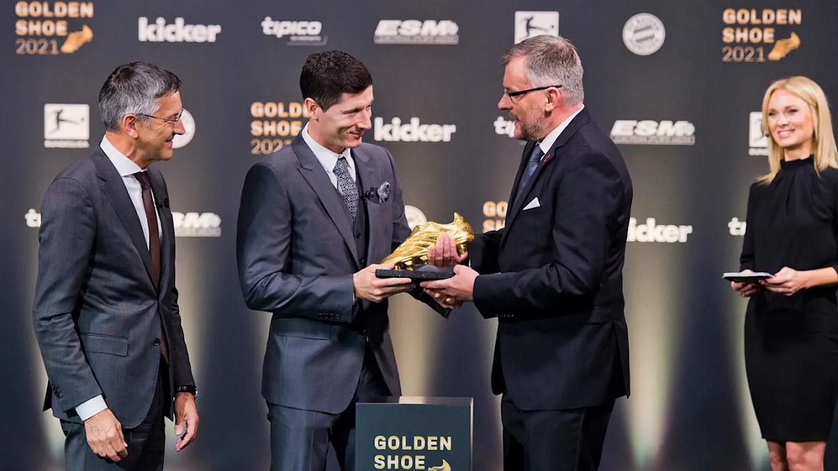 Robert Lewandowski a primit Gheata de Aur