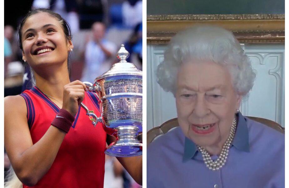 """FANTASTIC! Regina Elisabeta a II-a a reacţionat după victoria istorică obţinută de Emma Răducanu la US Open 2021. Mesajul pentru noua """"regină"""" a tenisului"""