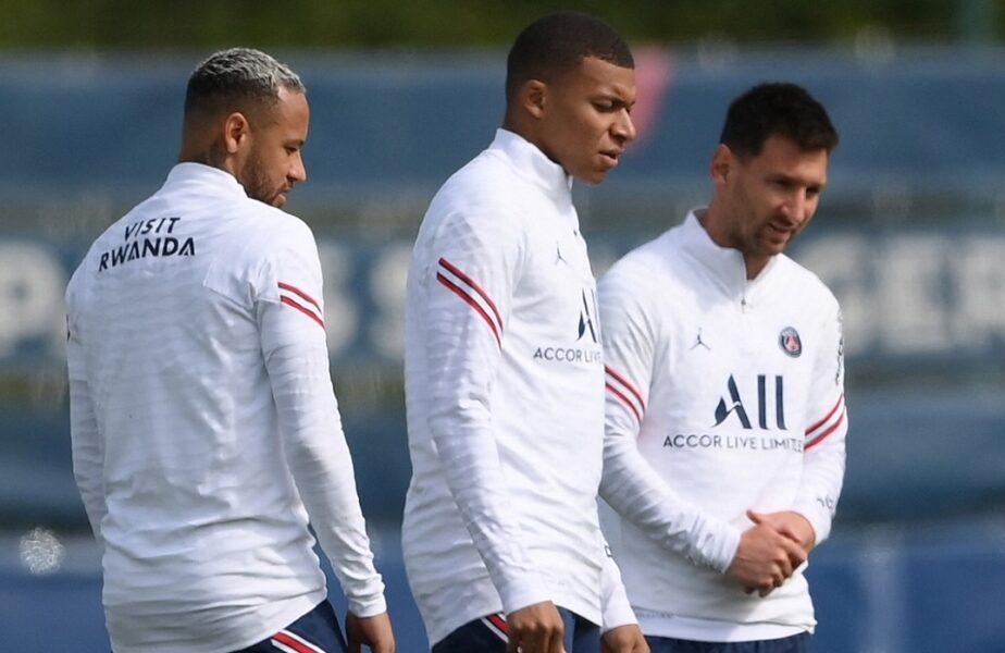 PSG, primul meci cu tripleta magică Messi-Neymar-Mbappe! Începutul unei ere stelare la Paris