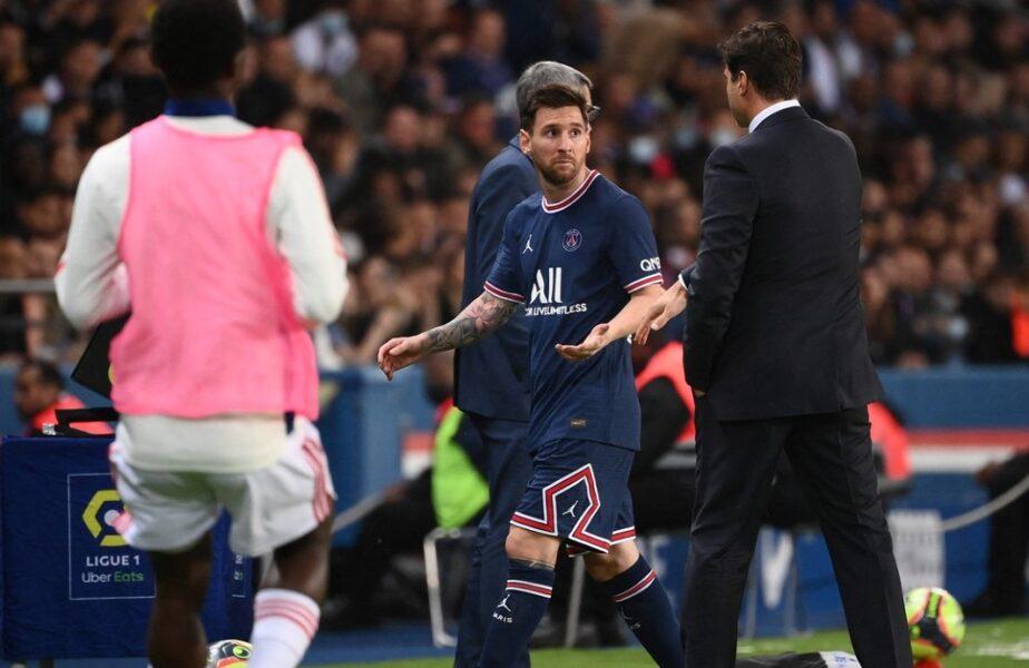 PSG – Olympique Lyon 2-1 | Scandal în galaxie! Lionel Messi nu a mai rezistat când a văzut că e schimbat. A refuzat să dea mâna cu Mauricio Pochettino!