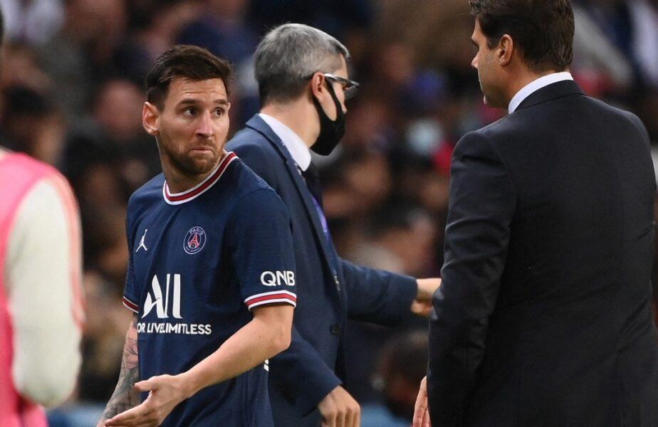 """Presa din Spania a luat foc după scandalul uriaș de la PSG – Lyon 2-1. """"Messi s-a simțit oribil! Pochettino se va certa cu toți trei"""""""