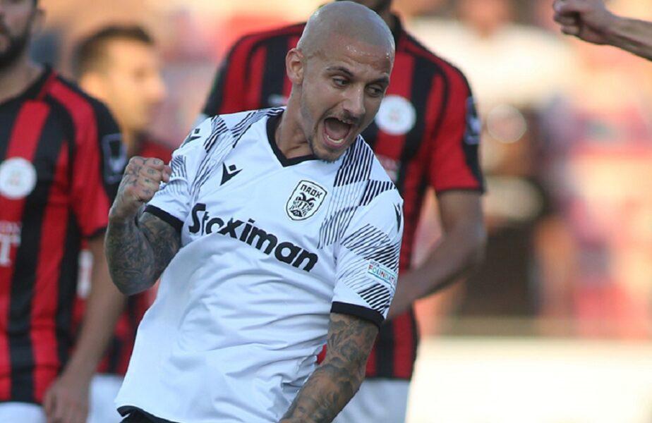 Alexandru Mitriță, primul gol la PAOK Salonic! Echipa lui Răzvan Lucescu s-a distrat în Gibraltar