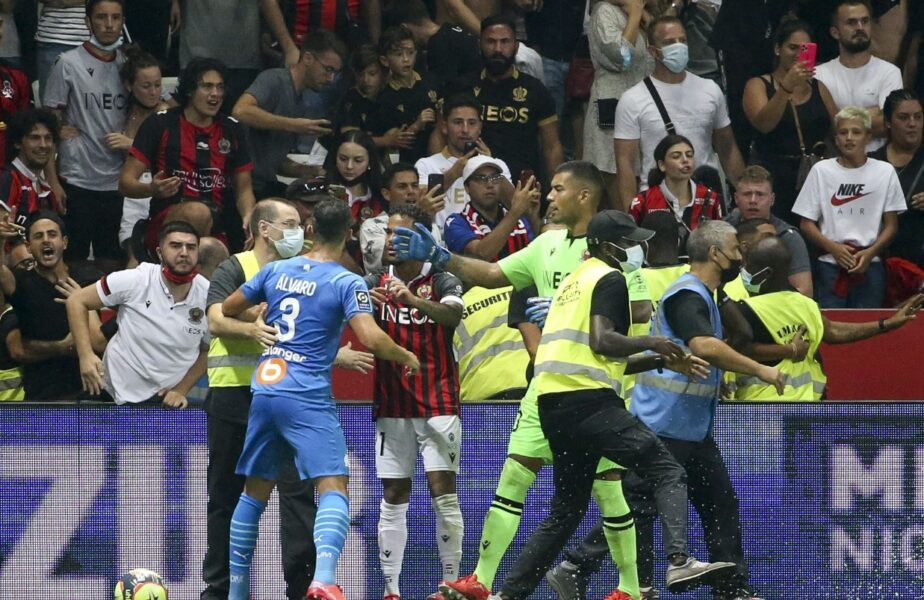 Nice, pedeapsă dură după incidentele incredibile din meciul cu Olympique Marseille