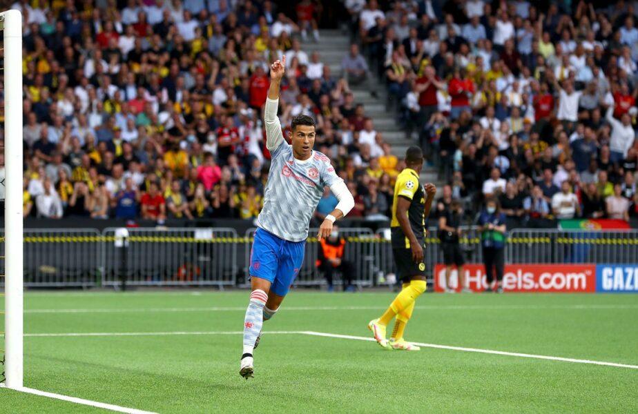 Liga Campionilor | Cristiano Ronaldo, încă o performanţă uriaşă după golul marcat cu Young Boys. A egalat un record monstruos deţinut de Lionel Messi
