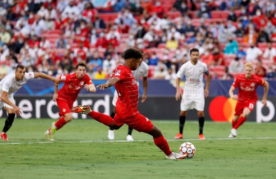 Liga Campionilor | Meci nebun între Sevilla și Salzburg! Patru penalty-uri dictate în prima repriză, două au fost ratate