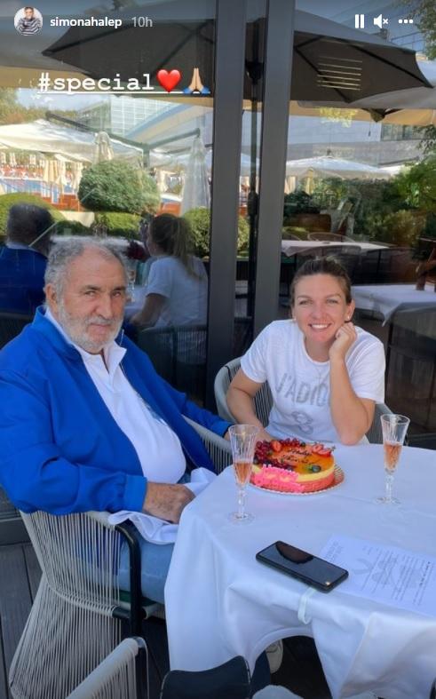 Simona Halep şi Ion Ţiriac