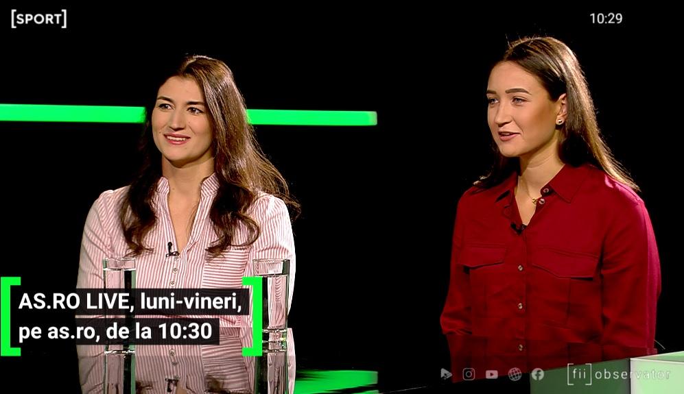 Ancuța Bodnar și Simona Radiș au fost invitate la AS.ro LIVE