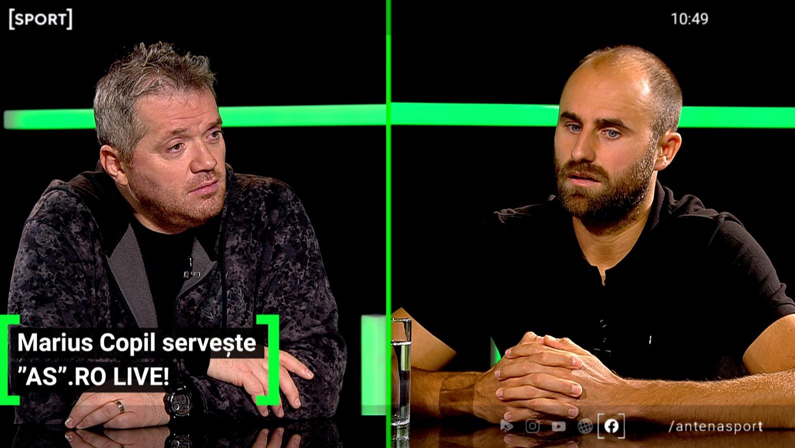 Marius Copil a fost invitat la AS.ro LIVE