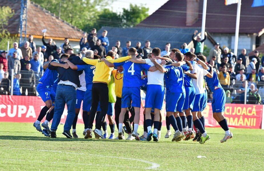 ACSO Filiași s-a calificat în sferturile Cupei României! Performanță istorică pentru echipa care joacă în Liga 3. Final dramatic în meciul cu Hermannstadt