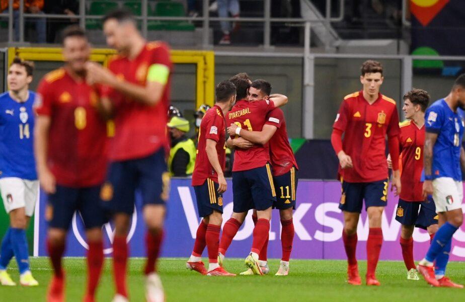 Italia – Spania 1-2. Ibericii au stopat seria istorică a Squadrei Azzurra. Spania, în finala Ligii Naţiunilor