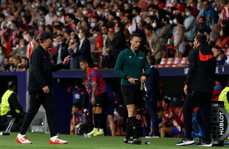 Reacţia lui Jurgen Klopp după ce Diego Simeone l-a lăsat cu mâna întinsă la finalul meciului Atletico – Liverpool 2-3