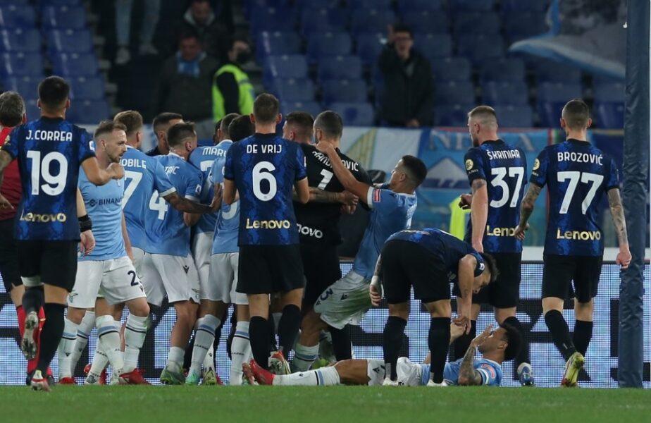 Fază monumentală la finalul meciului Lazio – Inter 3-1. Ce a putut face Luiz Felipe. Arbitrul l-a eliminat direct