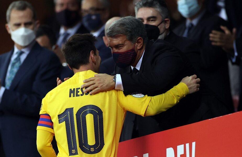 """Joan Laporta a rupt tăcerea despre negocierile cu Lionel Messi: """"Am sperat că va juca gratis!"""". Adevăratul motiv pentru care starul argentinan a ales să plece la PSG"""