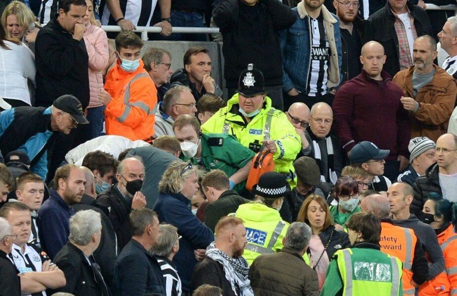 Momente de panică în Premier League! Un fan a fost resuscitat în tribune în timpul meciului Newcastle – Tottenham. Anunțul făcut de englezi