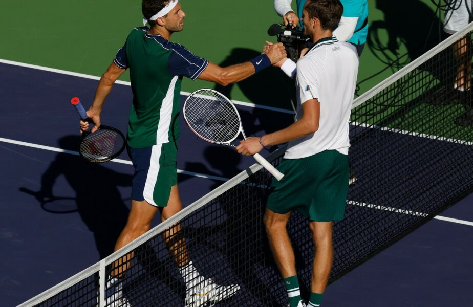 Daniil Medvedev, eliminare incredibilă la Indian Wells. Grigor Dimitrov a reușit o revenire epică în fața campionului de la US Open 2021