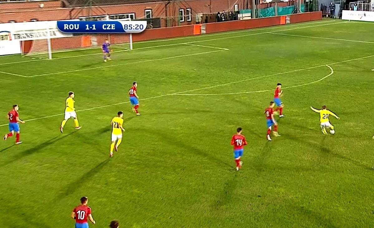 Eduard Rădăslăvescu, gol fabulos în România U20 - Cehia U20