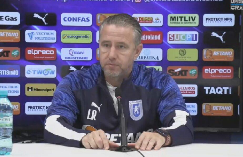 """Laurențiu Reghecampf, răspuns la declarațiile uluitoare ale lui Ionuț Chirilă. """"E o glumă, nu?"""". Cum a reacționat antrenorul Universității Craiova"""