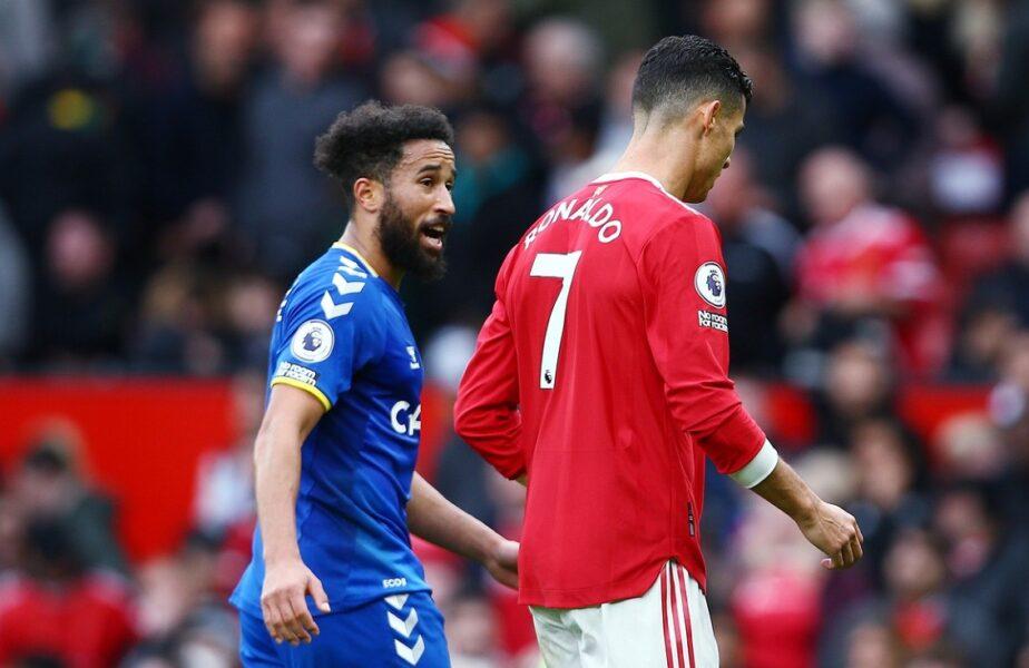 """Andros Townsend e """"omul zilei"""" în Anglia! A marcat în Manchester United – Everton 1-1, s-a bucurat precum Cristiano Ronaldo şi a plecat acasă cu tricoul idolului său"""