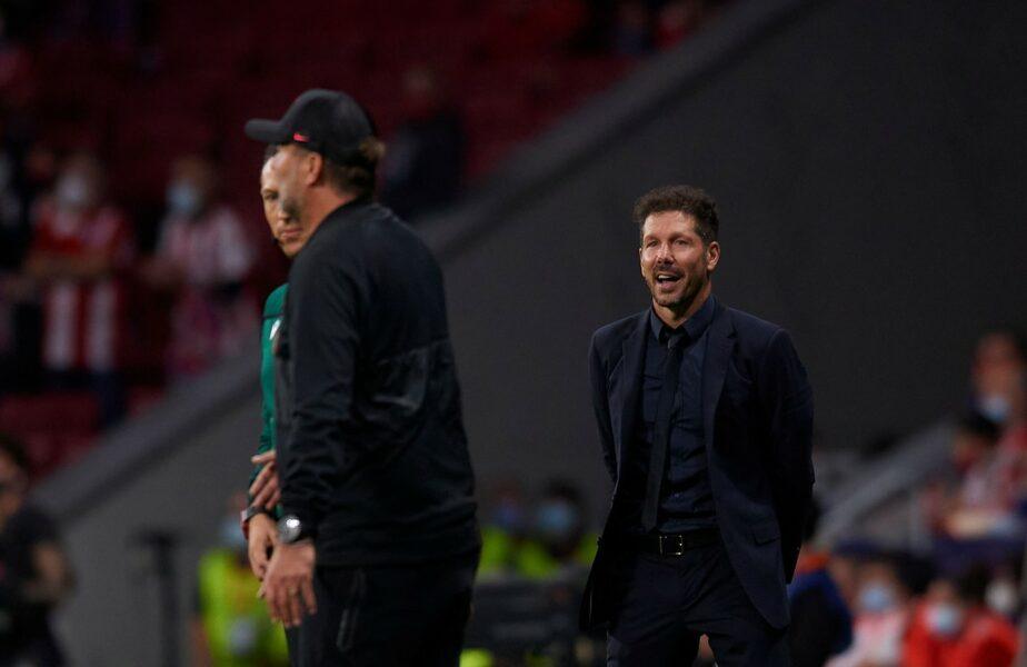"""Tensiune maximă după Atletico Madrid – Liverpool 2-3! Diego Simeone l-a lăsat cu mâna întinsă pe Jurgen Klopp: """"Nu-mi place! Așa văd eu lucrurile!"""""""