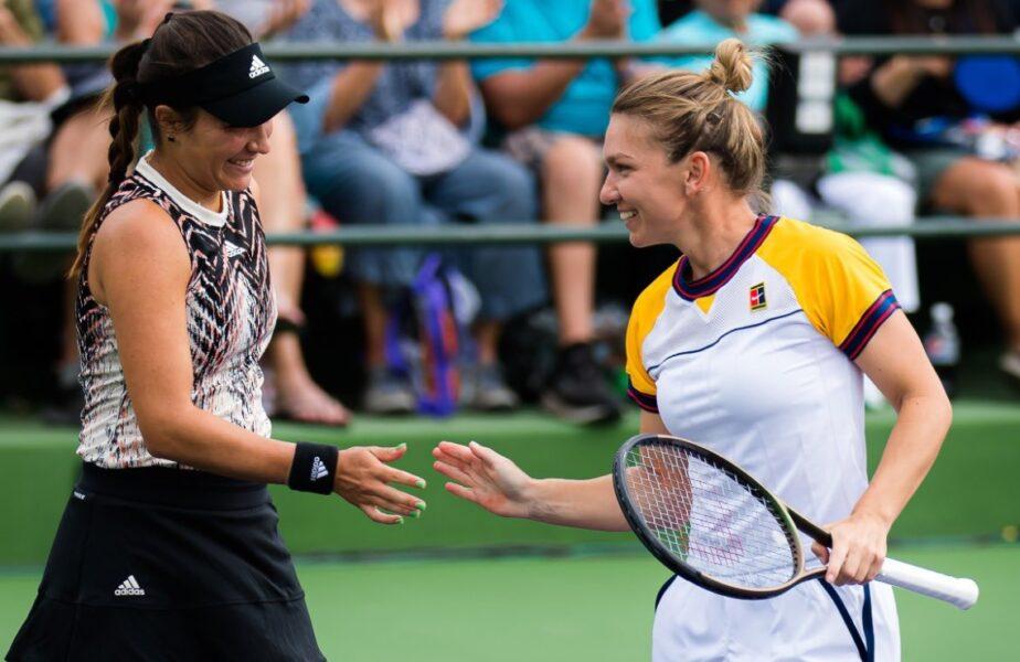 Victorie dramatică pentru Simona Halep şi Gabriela Ruse, la Indian Wells. Au salvat 3 mingi de set